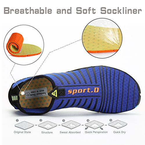 Dry Womens Yoga Barefoot Shoes Water Diving Quick Aqua Surf Walking Pool Swim Mens Blue Royal Beach Sports wfrqfxX