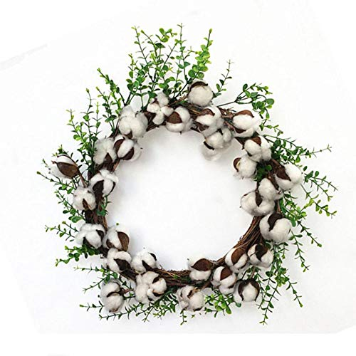Sundlight Wreath, Artificial Dried Cotton Wreath Door Wreath for Christmas,Thanksgiving,Halloween,Party Decor,Home Window Mall Hotel