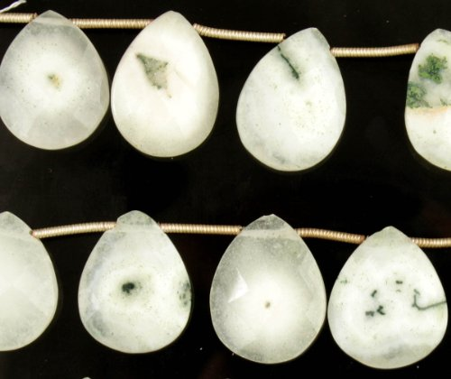 Faceted Moss Agate Briolette -