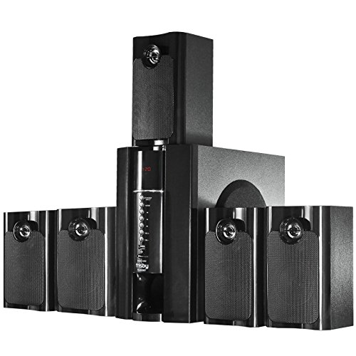 Frisby FS-5020BT 5.1 Surround Sound Home Theater Speakers System with Bluetooth Streaming USB/SD Slots and Remote Control