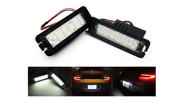 2 x LED matrícula luz blanca Canbus para 987 Boxster Cayman 911 Carrera 996 997 Cayenne: Amazon.es: Coche y moto