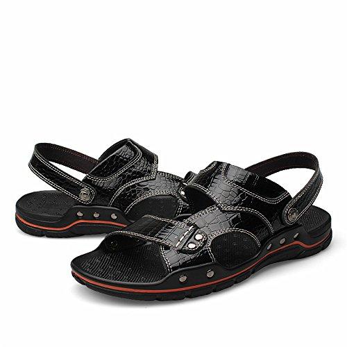 Summer uomo 2018 uomo sportivi Walking Sandali trekking Scarpe da da Nero Scarpe da Outdoor Tqq40