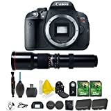 Canon EOS Rebel T5i 18.0 MP CMOS Digital Camera Digital SLR Camera and DIGIC 4 Imaging + 500mm Preset Telephoto Lens + 2pc 32GB Memory Cards + UV Filter + Extra Battery + Premium Camera Backpack