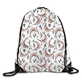 Narwhal Animal Casual Youth Drawstring Bag Heavy Duty Gym Sack Bag Volleyball