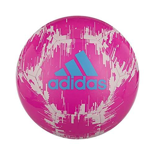 : adidas Glider 2 Soccer Ball, Shock Pink/White/Bright Cyan, 3