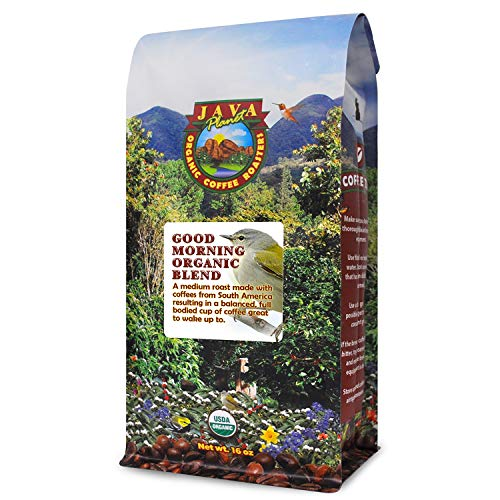 Java Planet - Good Morning USDA Organic Coffee Beans, Medium Roast, Arabica Gourmet Coffee Grade A, packaged in 1 LB ()