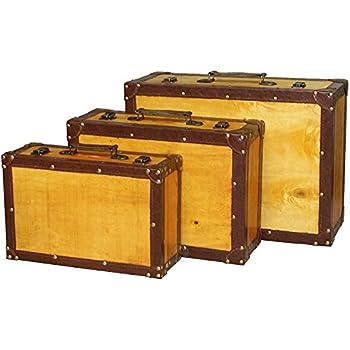 Amazon.com: Old Vintage Suitcase, Set of 3: Home & Kitchen