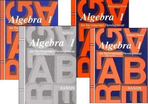 Saxon Algebra 1 Kit with Solution Manual 3rd Edition -  JOHN SAXON, Hardcover