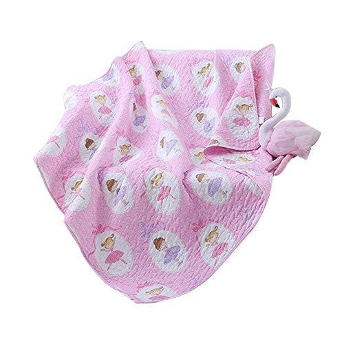 Abreeze Thin Summer Crib Quilts Comforters Cotton Air Conditioning Blankets for Kids Adults 43'' X 51'',Pink by Abreeze