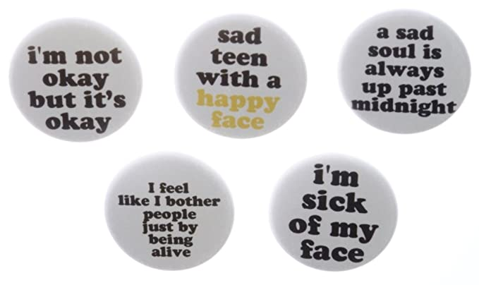 Amazon.com: A&T Designs Set 5 Sad Emo Punk Goth Teen Life ...