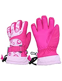 N'Ice Caps Kids Scroll Print Waterproof Thinsulate Insulated Winter Snow Gloves