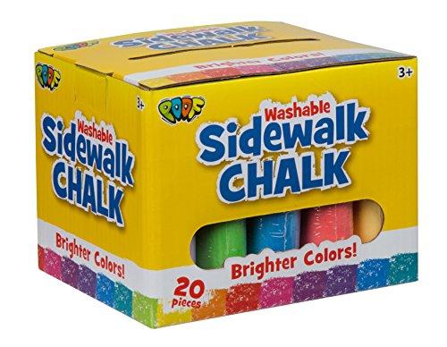 POOF 0C8907BL 20 Piece Sidewalk Chalk