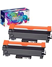 TonerNeeds Compatible Brother TN760 Cartridge – Compatible High Yield Toner Cartridge Replacement For Brother TN760 TN730 TN-760 TN-730 [WITH CHIP] – Works with DCP-L2550DW HL-L2390DW HL-L2350DW HL-L2370DWXL HL-L2370DW MFC-L2710DW HL-L2395DW MFC-L2750DWXL MFC-L2750DW MFC-L2730DW Printer, 2 Combo Pack