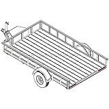 "6′ 10"" x 12′ Utility Trailer Plans – 3,500 lb Capacity   Trailer Blueprints Model U82-144-35J"