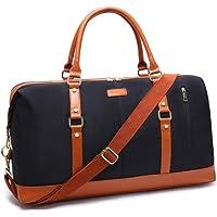 Women Weekender Bag,Large Capacity Canvas Travel Duffel tote Bag Holdalls Weekend Overnight Travel Bag Handbags with Shoulder Straps