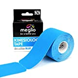 Pre Cut Kinesiology Tape – Support Muscles during Sports, Fitness Workouts & Recovery from Sporting Injuries - 5 Metre x 5 cm Roll 25cm Pre Cut Strips – Latex Free & Water Resistant