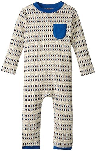 - Tea Collection Boys' Wazawaza Thermal Romper, Storm Grey, 6-9 Months Baby