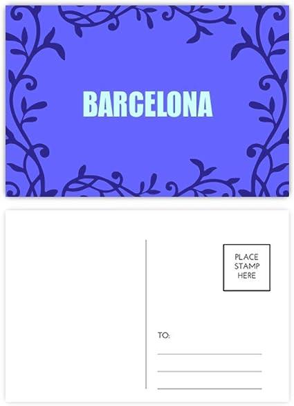 Barcelona España City Postal Tarjeta de Correo Rama Totem: Amazon.es: Oficina y papelería