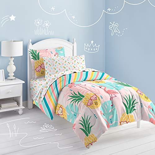 - Dream Factory Pineapple Comforter Set, Twin, Pink