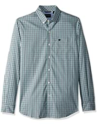 Men's Comfort Stretch No Wrinkle Long Sleeve Button Front Shirt