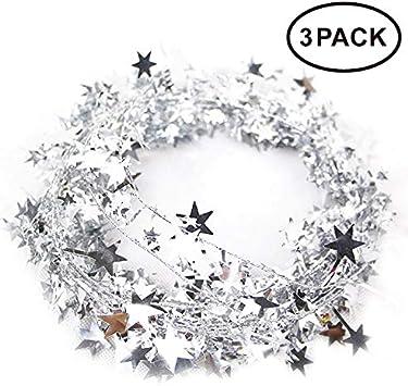 Amazon.com: Neo LOONS Guirnalda de alambre con estrellas de ...