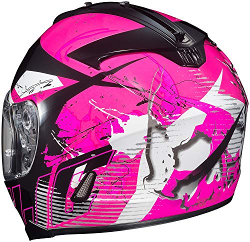 HJC 0818-1308-03 IS-17 Blur Helmet, Distinct Name: MC-8, Gender: Womens, Helmet Category: Street, Helmet Type: Full-face Helmets, Primary Color: Pink, Size: XS