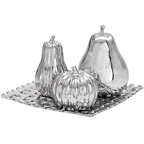 Casa Cortes Ceramic Plate With Decorative Fruit Center Piece And Table Decor (Center Piece Plate compare prices)