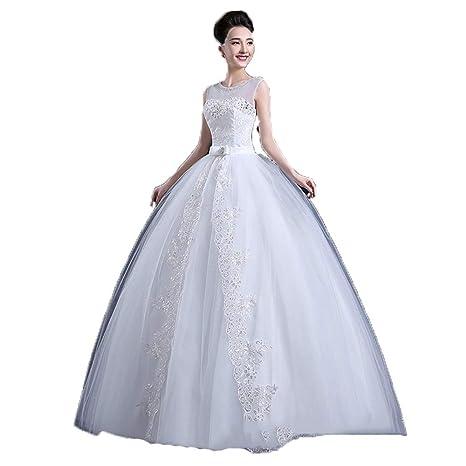 Vestidos de novia Mujeres sin mangas de cristal con cuentas ...