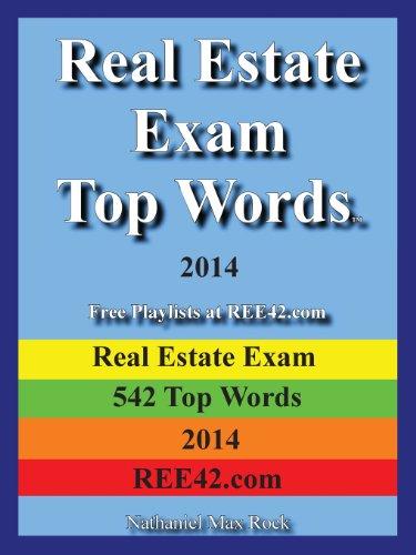 Real Estate Exam Top Words 2014 Real Estate Exam 542 Top Words 2014 Ree42.com