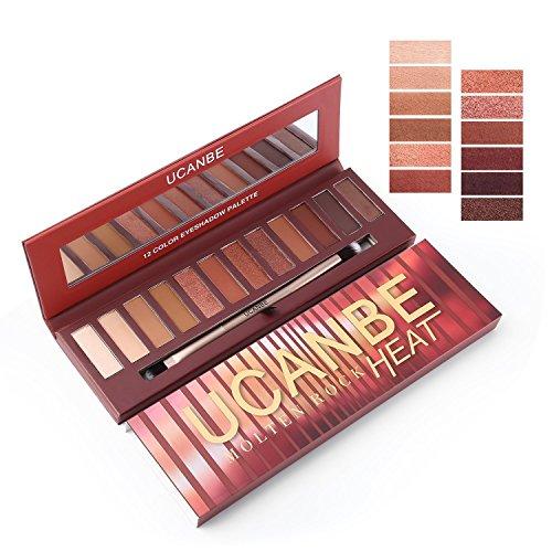 Red Eyeshadow Palette 12 Colors Matte & Shimmer Eye shadow Longlasting Waterproof Cosmetic Makeup kit, 3.5oz