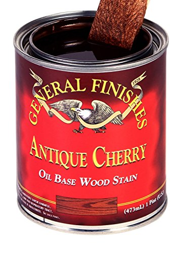 General Finishes ACQT Oil Based Penetrating Wood Stain, 1 Quart, Antique Cherry