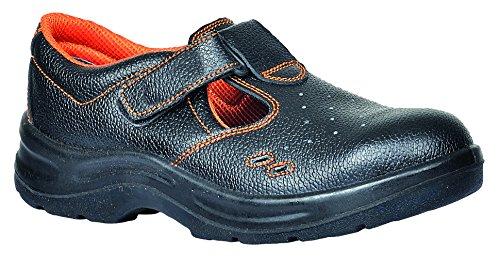 Portwest FW86 - Ultra sandalia de seguridad S1P 48/13, color Negro, talla 48 Negro
