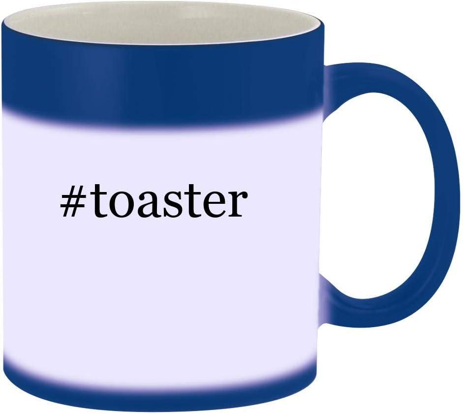 #toaster - 11oz Hashtag Magic Color Changing Mug, Blue