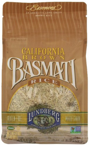 Lundberg Family Farms Brown Basmati Rice, 2 Pound (Pack of 6) Basmati Rice Whole Grain
