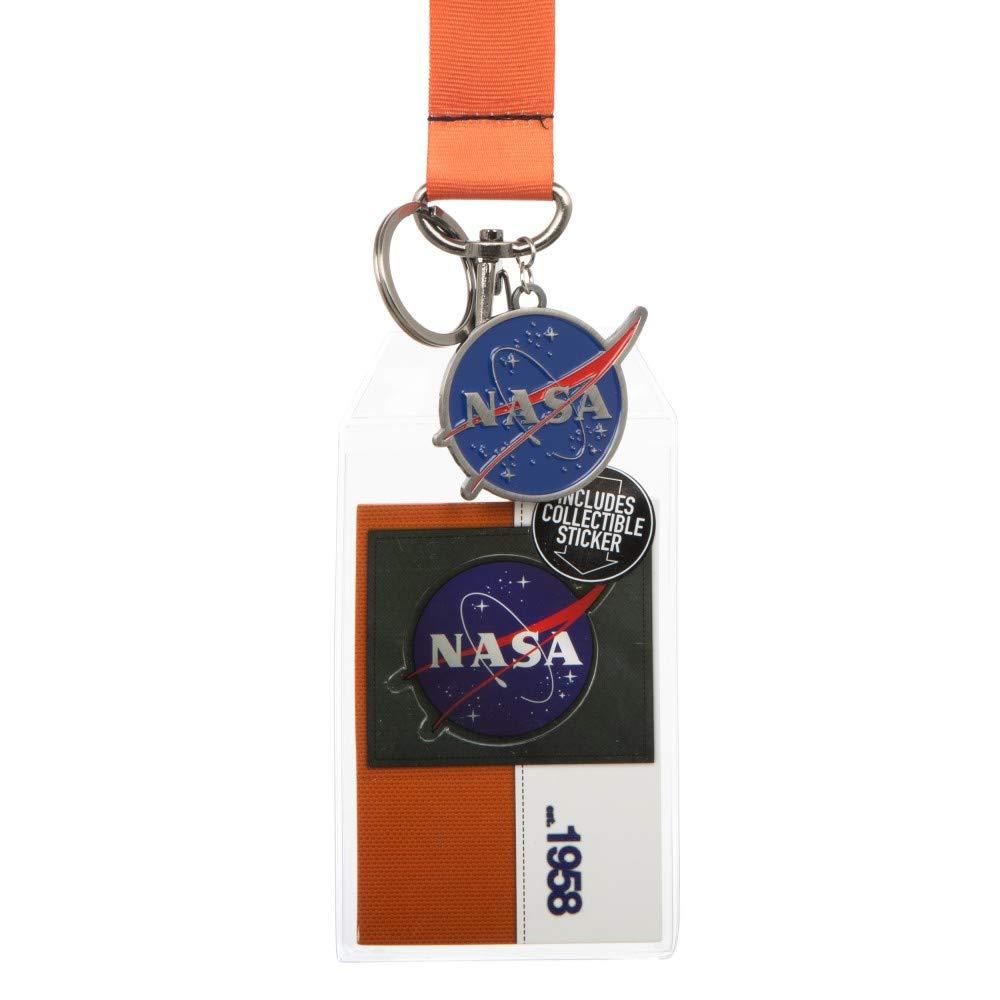 Bioworld Cordón naranja de la NASA con llavero con logotipo ...