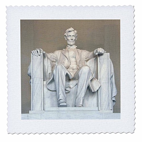 3dRose qs_88995_1 Abraham Lincoln Memorial, Washington Dc-Us09 Rkl0011-Raymond Klass-Quilt Square, 10 by - Mall Memorial