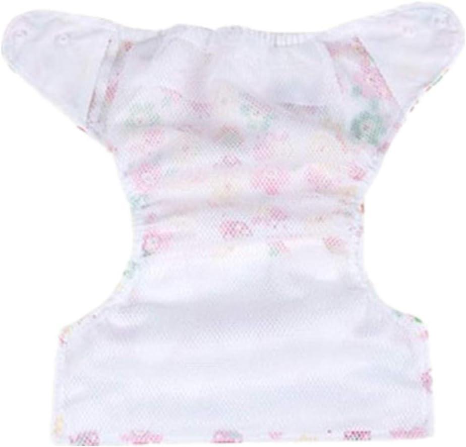 FairOnly Baby Cute Patterns Windelhose Stoffwindel Waschbar Auslaufsichere Windeln Blue Love Grid