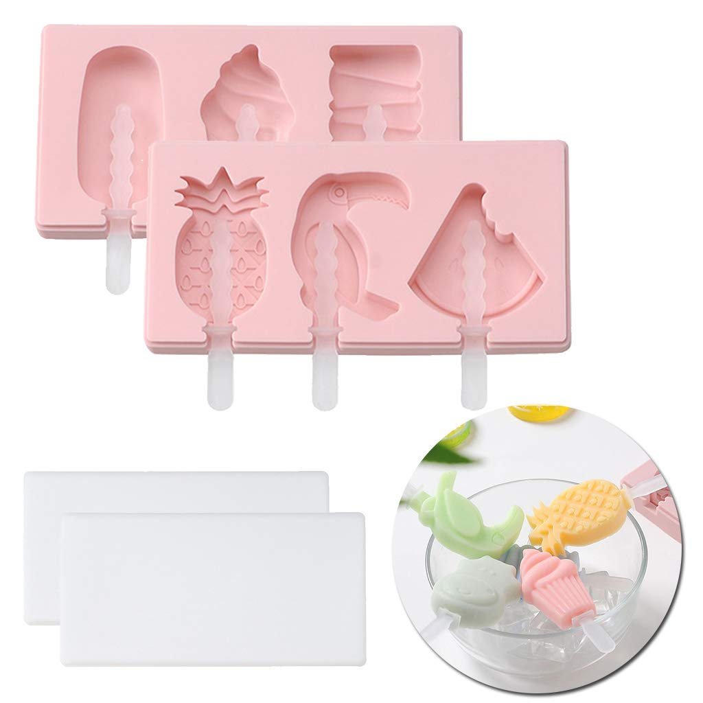 DreamJing Moule /à Glace en Silicone Popsicle Moules DIY R/éutilisable Popsicle Moules DIY R/éutilisable Popsicle Mold Ice Cream
