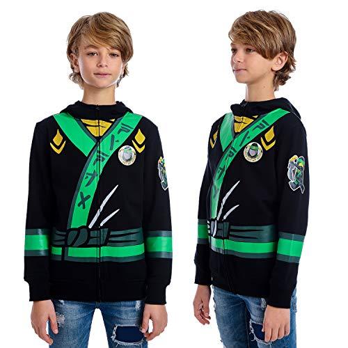 LEGO Ninjago Boys' Little Lloyd Costume Hoodie, Black -