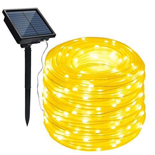Solar 100 Led White Rope Lights in US - 9