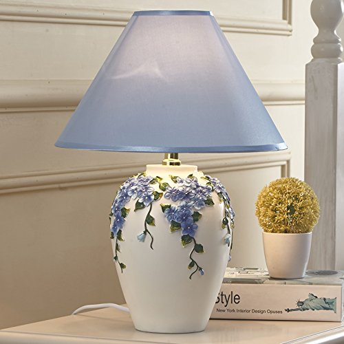 CLG-FLY Creative European pastoral warm bedroom bedside lamp lamp dimming lamp 16×43cm,D-65010B,Button switch