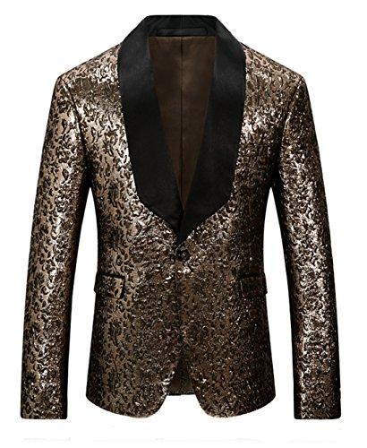Slim Blazer Mogu Da Gold Uomo Giacca Fit 0YnxHagtx