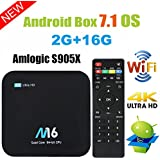 Android TV Box - VIDEN Newest Android 7.1 Smart TV Boxsets, Amlogic S905X Quad-Core, 2GB RAM & 16GB ROM, 4K @60fps Ultra HD, Support Video Encoder for H.265, 2.4GHz WIFI Bluetooth 4.0