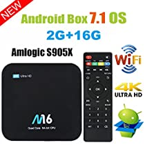 TV Box Android 7.1 - VIDEN Smart TV Box [2018 Ultima Generazione] Amlogic S905X Quad-Core, 2GB RAM & 16GB ROM, Video 4K UHD H.265, Bluetooth 4.0, 2 Porte USB, HDMI, WiFi Web TV Box + Telecomando