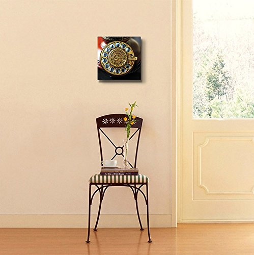 Telephone Numbers Rotary Phone Dial Vintage Retro Style Wall Decor
