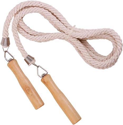 Meetforyou Cuerda para Saltar, Cuerda de Salto de algodón y Lino ...