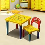 Popamazing Kids Children Furniture Alphabet Learn & Play ABC Table + Chair Set Educational Present