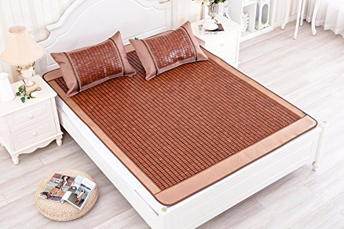 qbedding carbonized bamboo summer sleeping mat cooling mattress topper pad twin 38 x 75 no. Black Bedroom Furniture Sets. Home Design Ideas