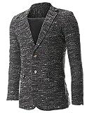 FLATSEVEN Mens Tweed Multi Woven Wool Blazer Jacket