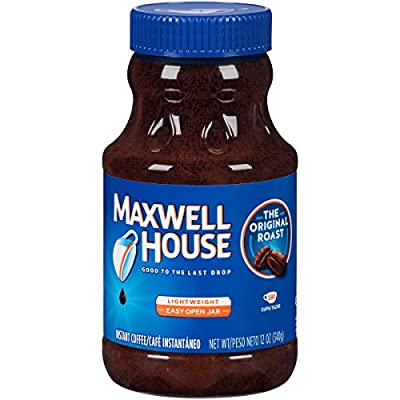 Maxwell House Original Blend Instant Coffee, Medium Roast, 12 Ounce Jar by KraftHeinz
